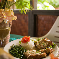 Huahine, French Polynesia, Temarara Restaurant, food shot, fish