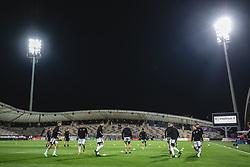 Team of NS Mura during warmup before football match between NK Maribor and NS Mura in 9th Round of Prva liga Telemach 2021/22, on 19 of September, 2021 in Ljudski Vrt, Murska Sobota, Slovenia. Photo by Blaž Weindorfer / Sportida