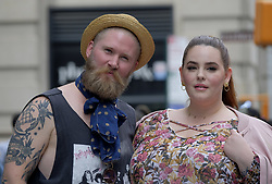 September 20, 2017 - New York, New York, United States - Tess Holliday and her husband Nick Holliday made an appearance at Build Series on September 20 2017 in New York City  (Credit Image: © Curtis Means/Ace Pictures via ZUMA Press)