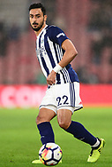 Nacer Chadli of West Bromwich in action .Premier league match, Southampton v West Bromwich Albion at the St. Mary's Stadium in Southampton, Hampshire, on Saturday 21st  October 2017.<br /> pic by Bradley Collyer, Andrew Orchard sports photography.