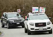 """TRURO - The Truro Recreation Department organized a """"birthday caravan"""" for 9-year-old Cameron Miner on Wednesday, April 15, 2020."""