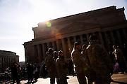 The Inauguration of President Barack Obama. Washington DC, January 20, 2009. National guardsmen near the US Archive building.