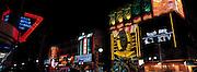 Nightclub district in Yinchuan, Ningxia Province, China.