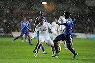 Swansea city's Pablo Hernandez © is challenged by Chelsea's Daniel Sturridge ®. .Barclays Premier league, Swansea city v Chelsea at the Liberty Stadium in Swansea, Swansea, South Wales on Saturday 3rd November 2012. pic by Andrew Orchard, Andrew Orchard sports photography,