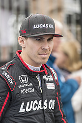 March 10, 2018 - St. Petersburg, Florida, United States of America - March 10, 2018 - St. Petersburg, Florida, USA: Robert Wickens (6) walks to his car before a practice session for the Firestone Grand Prix of St. Petersburg at Streets of St. Petersburg in St. Petersburg, Florida. (Credit Image: © Walter G Arce Sr Asp Inc/ASP via ZUMA Wire)