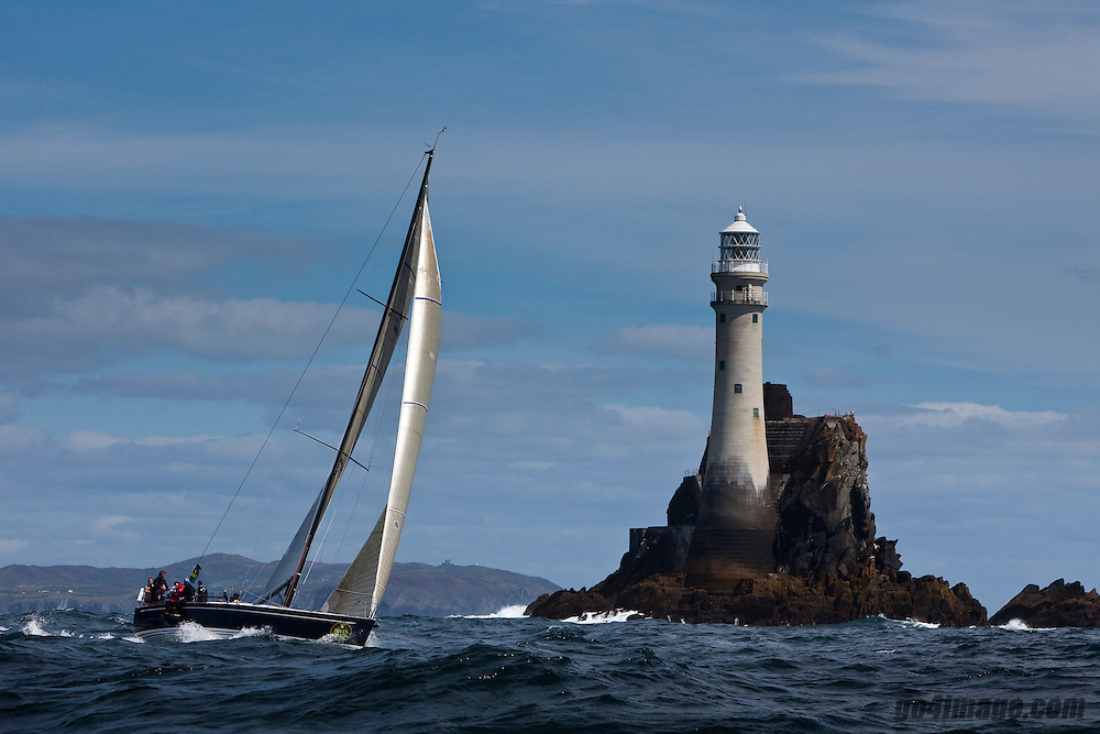 Mark Devereux' Brevity in the Rolex Fastnet Race to the famous lighthouse on the West Cork coastline....