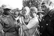 Pioneering astronaut and U.S. Senator from Ohio, John Glenn and his wife, Annie, visit with Jimmy and Rosalynn Carter in July 1976. Carter was interviewing Glenn for the position of Vice President as he prepared to become President of the United States in January, 1976. Carter and Glenn visited a family cemetery outside of Plains, Georgia and met with longtime Carter tenant farmer, Leonard Wright.