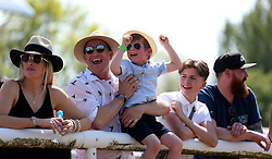 General view of family's and kids reacting after watching the racing during Kids Carnival Day of The Qatar Airways May Racing Carnival at Warwick Racecourse.