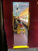 Open car historic train ride, Lehigh River Park, Jim Thorpe, PA