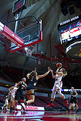 NORMAL, IL - October 30: McKenna Sims defended by Jamien Bain during a college women's basketball game between the ISU Redbirds and the Lions on October 30 2019 at Redbird Arena in Normal, IL. (Photo by Alan Look)