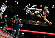 Shaun White competes during the Skateboard Vert final at the X Games in Los Angeles, Saturday, July 30, 2011. White won the gold medal in the event. (AP Photo/Bret Hartman)