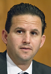 "October 3, 2017 - Washington, District of Columbia, United States of America - United States Senator Brian Schatz (Democrat of Hawaii) listens as Timothy J. Sloan, Chief Executive Officer and President, Wells Fargo & Company, testifies before the United States Senate Committee on Banking, Housing, and Urban Affairs as they conduct a hearing entitled, ""Wells Fargo: One Year Later'' on Capitol Hill in Washington, DC on Tuesday, October 3, 2017. .Credit: Ron Sachs / CNP (Credit Image: © Ron Sachs/CNP via ZUMA Wire)"