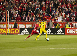 STYLEPREPENDJustin Meram (9) of Columbus Crew SC controls the ball during 2nd leg MLS Cup Eastern Conference semifinal game against Red Bulls at Red Bul Arena Red Bulls won 3 - 0 agregate 3 - 1 and progessed to final (Credit Image: © Lev Radin/Pacific Press via ZUMA Wire)
