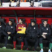 Galatasaray's players during their UEFA Champions League Quarter-finals, Second leg match Galatasaray between Real Madrid at the TT Arena AliSamiYen Spor Kompleksi in Istanbul, Turkey on Tuesday 09 April 2013. Photo by Aykut AKICI/TURKPIX