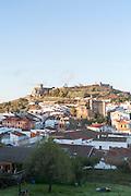 Historic castle over the town of Aracena, Sierra de Aracena, Huelva province, Spain