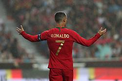 June 7, 2018 - Lisbon, Portugal - Portugal's forward Cristiano Ronaldo gestures during the FIFA World Cup Russia 2018 preparation football match Portugal vs Algeria, at the Luz stadium in Lisbon, Portugal, on June 7, 2018. (Portugal won 3-0) (Credit Image: © Pedro Fiuza/NurPhoto via ZUMA Press)