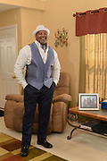 Stylemaker and Promoter Michael Martin, photographed in formal wear courtesy Sam Meyers Formal Wear for Big Mike's Comedy Blast, at his home in Hollow Creek. Aug. 27, 2016