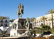 Statue of General Miguel Primo de Rivera, Plaza del Arenal, Jerez de la Frontera, Spain
