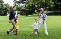 U.S. President Donald Trump's daughter, Ivanka, her husband, Jared and kids Arabella, Joseph and Theodore return to the White House on August 27, 2017 in Washington, DC. . Photo by Olivier Douliery/ Abaca