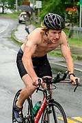 Michael Vance during the bike segment in the 2018 Hague Endurance Festival Sprint Triathlon