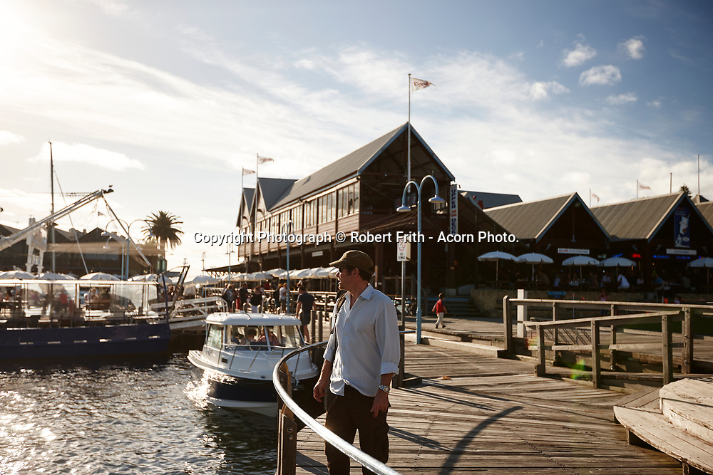 Fremantle Fishing Boat Harbour with Cicerello's fish and chip shop