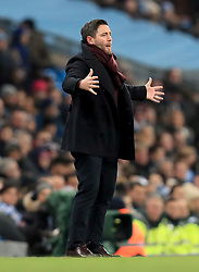 Bristol City manager Lee Johnson gestures on the touchline