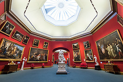Interior of Scottish National Gallery art museum in Edinburgh, Scotland, United Kingdom