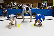 A tournement of sumo for children at machida City gymnasium in Naruse, Tokyo, Japan. Sunday May 13th 2012