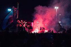 April 23, 2018 - Naples, Italy - Neapoletan Supporters to Capoldichino Airport Celebrations after the victory of SSC Napoli against Juventus, in Naples, Italy, on April 22, 2018. (Credit Image: © Paolo Manzo/NurPhoto via ZUMA Press)