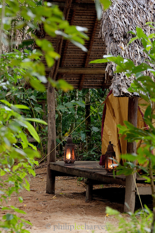 The only accomodation is at the eco-campsite on the island reserve Nosy Mangabe, Madagascar