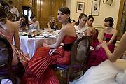 WERONIKA MISIUREWICZ, Crillon Debutante Ball 2007, Getting Ready. Crillon Hotel Paris. -DO NOT ARCHIVE-© Copyright Photograph by Dafydd Jones. 248 Clapham Rd. London SW9 0PZ. Tel 0207 820 0771. www.dafjones.com.