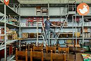 Italy, Capannori, the fourniture shop of Daccapo organisation, Daniele Guidotti, responsible of Daccapo