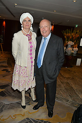 LORD FELLOWES OF WEST STAFFORD and his wife LADY EMMA KITCHENER-FELLOWES at a party to celebrate Jack Petchey's 90th birthday in association with the Stroke Association held at the Shangri-La Hotel, Level 34, The Shard, London on 13th July 2015.