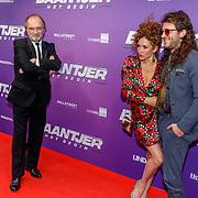 NLD/Amsterdam/20190415 - Filmpremiere première Baantjer het Begin, Katja Schuurman, partner Freek van Noortwijk en haar vader