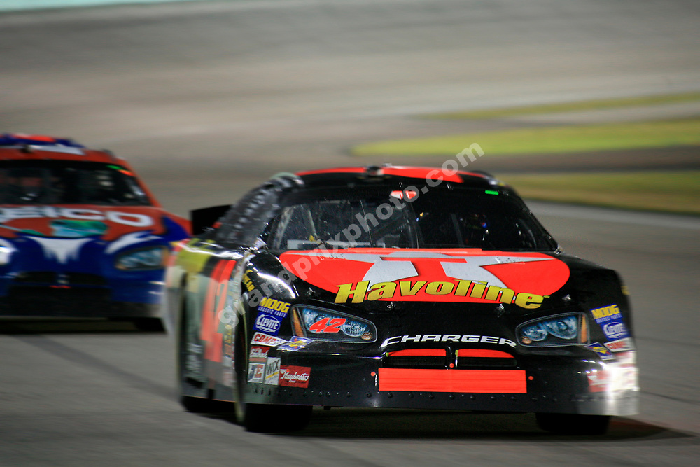 Juan-Pablo Montoya in the Busch Series race at the 2006 NASCAR finale at Homesead, Miami. Photo: Grand Prix Photo