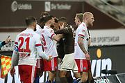 Fussball: 2. Bundesliga, FC St. Pauli - Hamburger SV, Hamburg, 01.03.2021<br /> Disput: Markus Wintzheimer (HSV)<br /> © Torsten Helmke
