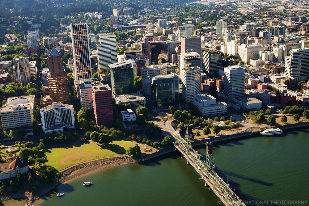 Portland Skyline & Hawthorne Bridge