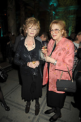 Left to right, EDNA O'BRIEN and LADY ANTONIA FRASER at the Orion Publishing Group Author Party held at the V&A, London on 18th February 2009.