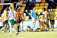 Fotball , <br /> Tippeligaen Eliteserien , <br /> 25.05.08 , <br /> Åråsen stadion , <br /> Lillestrøm SK - HamKam , <br /> Arnar Førsund stupte inn i en hodeduell med Espen Søgård som ente med at begge gikk ned for telling ,  <br /> Foto: Thomas Andersen / Digitalsport