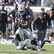 Oct 09 2016 - Oakland U.S. CA - Raiders wide receiver Amari Cooper #89 games stats 6 catches for 138 yards and 1 TD during the NFL Football game between San Diego Chargers and the Oakland Raiders 34-31 win at O.co Coliseum Stadium Oakland Calif. Thurman James