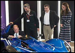 October 14, 2016 - Manchester, United Kingdom - Image licensed to i-Images Picture Agency. 14/10/2016. Manchester, United Kingdom. The Duke of Cambridge climbs into a graphene racing car watched by the Duchess of Cambridge during a visit to the National Graphene Institute in Manchester. Picture by Stephen Lock / i-Images (Credit Image: © Stephen Lock/i-Images via ZUMA Wire)