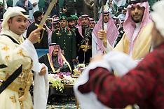 Saudi King Dances The Traditional Ardha - 20 Feb 2018