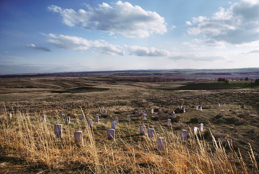 Graveyard at the site of Custer's Last Stand in South Dakota.