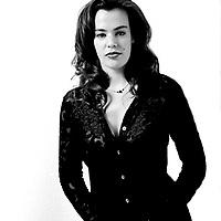 Portrait of woman in black .