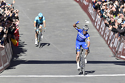 March 9, 2019 - Siena, Italia - Foto Gian Mattia D'Alberto / LaPresse.09-03-2019 Siena.Sportciclismo.Gara ciclistica Strade Bianche 2019 .nella foto: Jakob Fuglsang (Dan, Astana), il vincitore Julian ALAPHLIPPPE (Fra, Deceuninck-QuickStep)..Photo Gian Mattia D'Alberto  / LaPresse.2019-03-09 SienaSportCycling.Strade Bianche 2019 .in the photo: Jakob Fuglsang (Dan, Astana) the winner Julian ALAPHLIPPPE  (Credit Image: © Gian Mattia D'Alberto.Fabioferra/Lapresse via ZUMA Press)