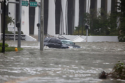 Brickell Avenue in Miami, FL, USA. was flooded after Hurricane Irma on Sunday, September 10, 2017. Photo by Mike Stocker/Sun Sentinel/TNS/ABACAPRESS.COM