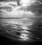 """9969-540228. """"Sand and the Sea"""". Cannon Beach. (in This Land This Oregon show) February 28,1954."""