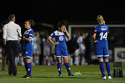 Angharad James of Bristol Academy cuts a dejected figure as Bristol Academy lose 0-3 to Birmingham City Ladies - Mandatory byline: Dougie Allward/JMP - 07966386802 - 05/09/2015 - FOOTBALL - SGS Wise Campus -Bristol,England - Bristol Academy Womens v Birmingham City Ladies - FA Womens Super League