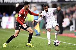 October 28, 2018 - Rennes, France - 20 TRISTAN DINGOME (REI) - 15 RAMY BENSEBAINI  (Credit Image: © Panoramic via ZUMA Press)