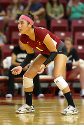 31 Aug 2010: Catherine Languido. The Illinois State Redbirds trumped the Rambles of Loyola-Chicago 3 sets to none at Redbird Arena on the campus of Illinois State University in Normal Illinois.